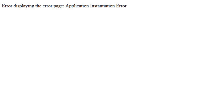 application-instantiation-error